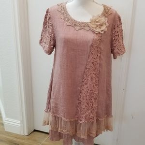 Simply Couture Pink Tunic